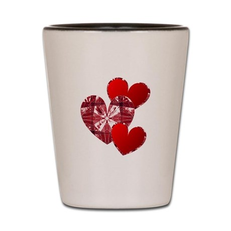 Country Hearts Shot Glass