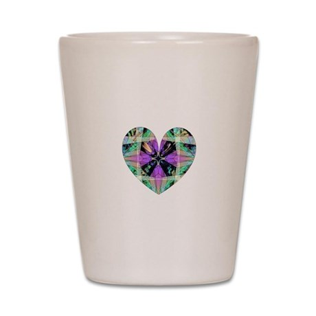 Kaleidoscope Heart Shot Glass