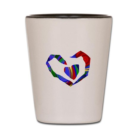 Abstract Heart Shot Glass