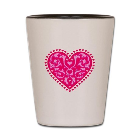 Fancy Heart Shot Glass