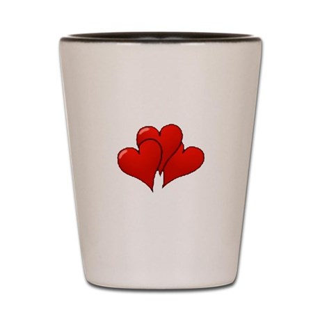 Three Hearts Shot Glass