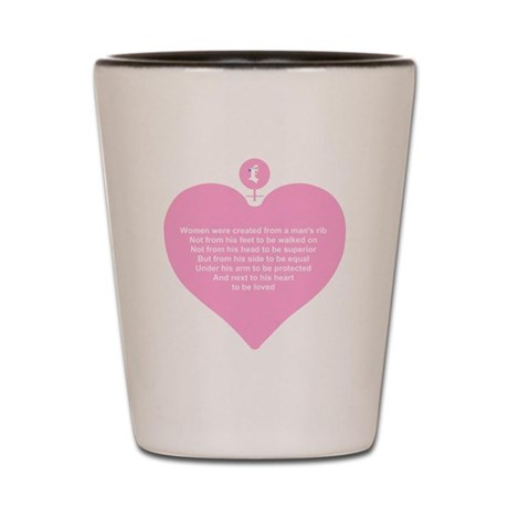 Pink Heart Shot Glass