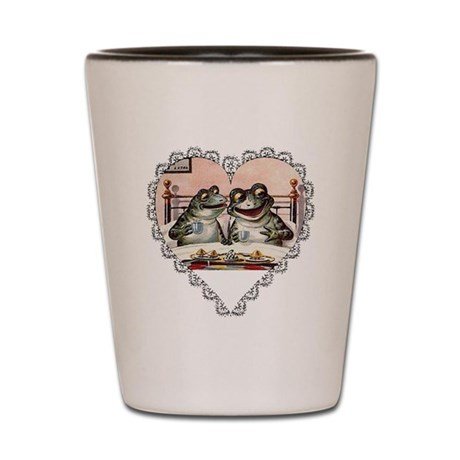 Frog Couple Shot Glass