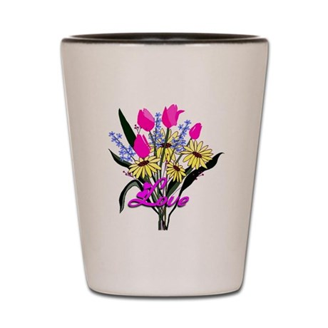 Love Bouquet Shot Glass