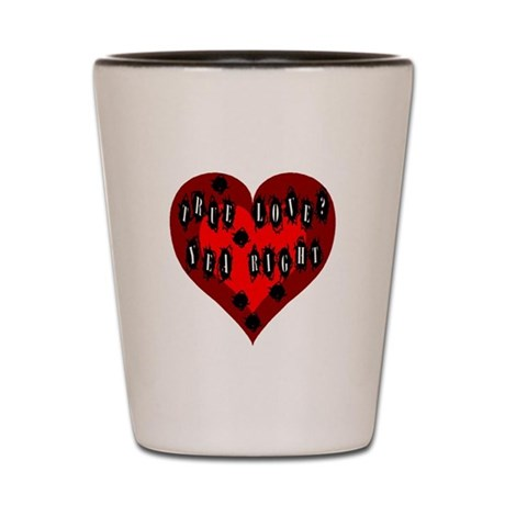 Holes in Heart Shot Glass