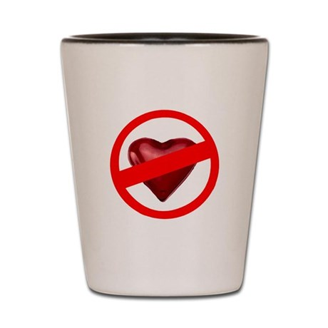 No Love Shot Glass