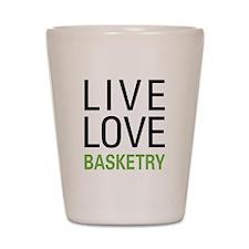 Live Love Basketry Shot Glass