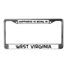 Happiness is West Virginia License Plate Frame