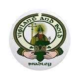 Bradley Clan Motto Ornament (Round)