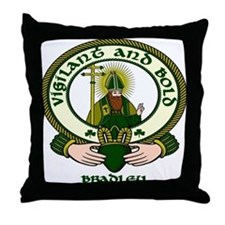Bradley Clan Motto Throw Pillow