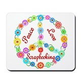 Scrapbooking Peace Sign Mousepad