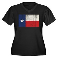 Vintage Texas Women's Plus Size V-Neck Dark T-Shir