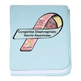 Macie Ryne Estes CDH Awareness Ribbon baby blanket