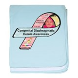 Natalie Fuentes CDH Awareness Ribbon baby blanket