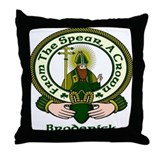 Broderick Clan Motto Throw Pillow