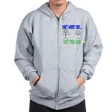 Funny Got Your Back Zip Hoodie
