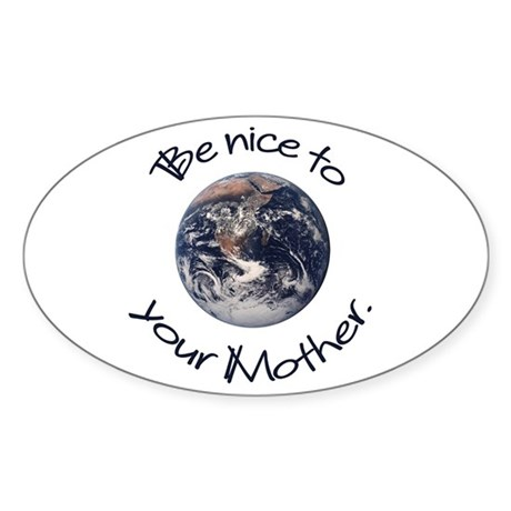 Be Nice Oval Sticker