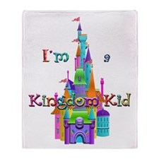 Kingdom Kid w/ Castle Image Throw Blanket