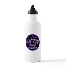 Purple Pentagram Board Water Bottle