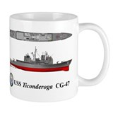 USS Ticonderoga CG-47 Mug