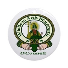 O'Connell Clan Motto Ornament (Round)