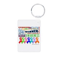 Ribbons For a Cause Keychains