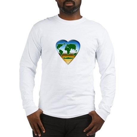 Heart-shaped Earth Long Sleeve T-Shirt