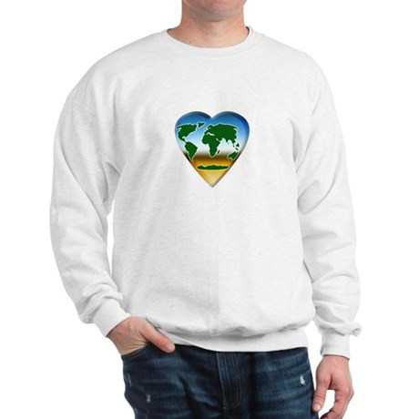 Heart-shaped Earth Sweatshirt