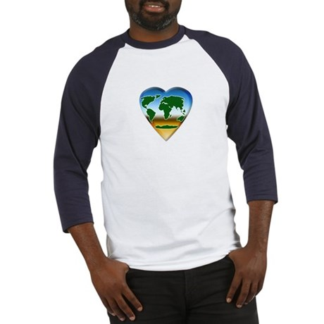 Heart-shaped Earth Baseball Jersey