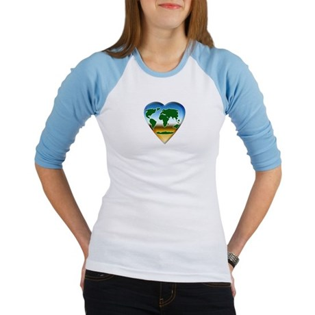 Heart-shaped Earth Jr. Raglan