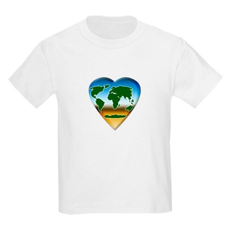 Heart-shaped Earth Kids T-Shirt