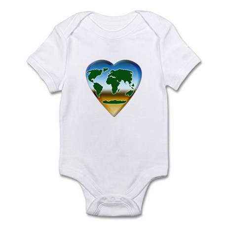 Heart-shaped Earth Infant Creeper
