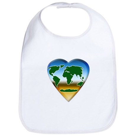 Heart-shaped Earth Bib