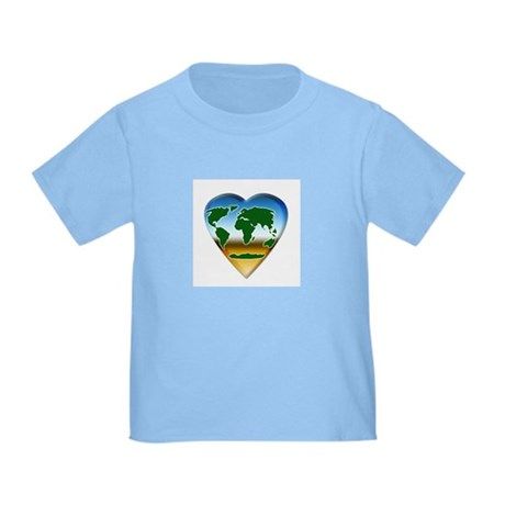 Heart-shaped Earth Toddler T-Shirt