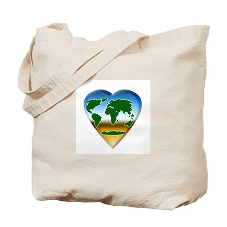 Heart-shaped Earth Tote Bag