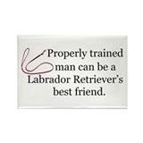 Labrador Retriever Training Rectangle Magnet