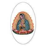 Lady of Guadalupe T2 Sticker (Oval 10 pk)