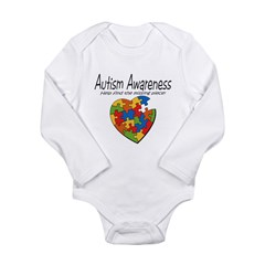 Autism Awareness Long Sleeve Infant Bodysuit