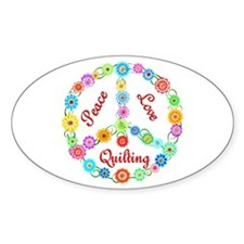 Quilting Peace Sign Bumper Stickers