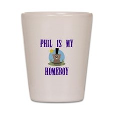 Homeboy Groundhog Day Shot Glass