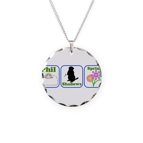 Phil, Shadows, Spring Necklace Circle Charm