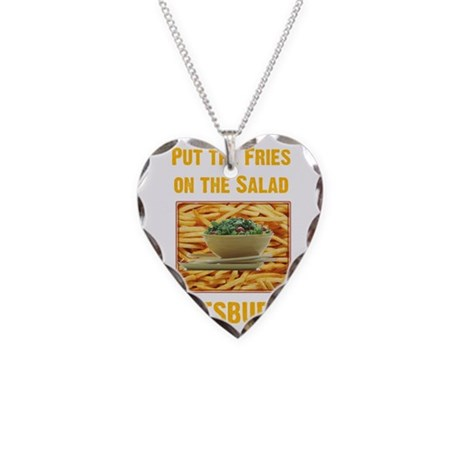 Fries Necklace Heart Charm