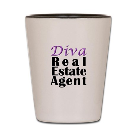 Diva Real estate Agent Shot Glass