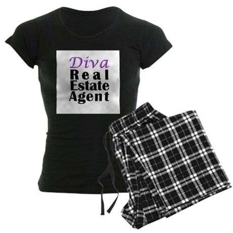 Diva Real estate Agent Women's Dark Pajamas