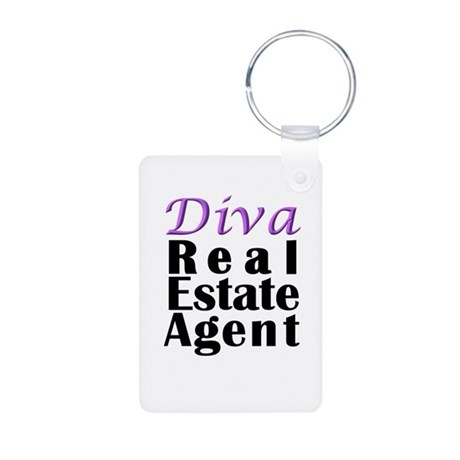 Diva Real estate Agent Aluminum Photo Keychain