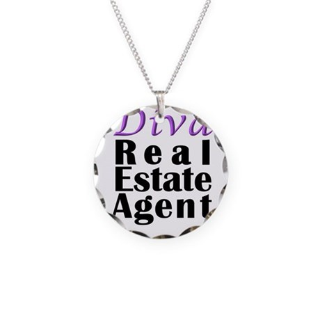 Diva Real estate Agent Necklace Circle Charm