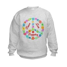 Puppetry Peace Sign Sweatshirt