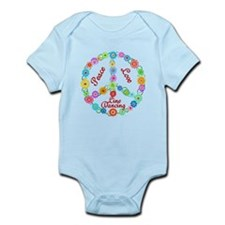 Line Dancing Peace Sign Infant Bodysuit