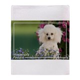 Miniature Poodle-4 Throw Blanket