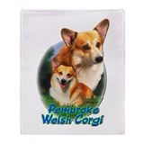 Pembroke Welsh Corgi-1 Throw Blanket